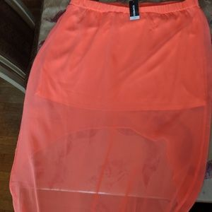 High low Coral skirt